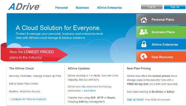 ADrive Online Backup Services