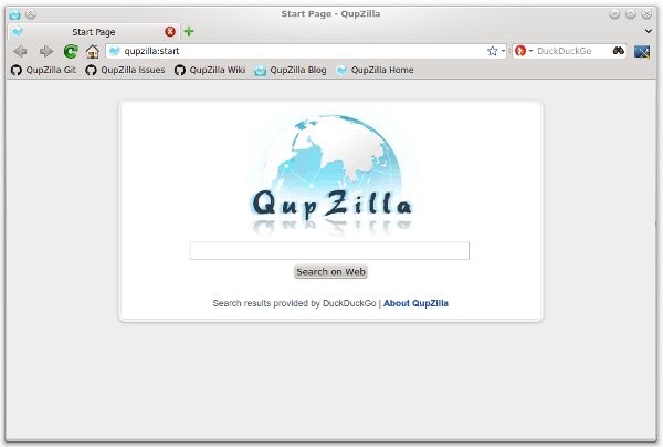 QupZilla Linux Browser
