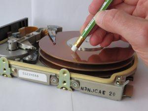 Wipe hard drive with pencil