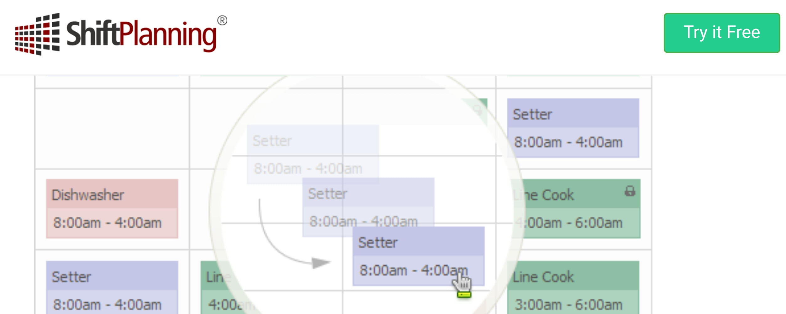 Shiftplanning employee scheduling program